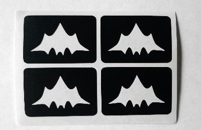 Bat temporary Henna Tattoo set of 4