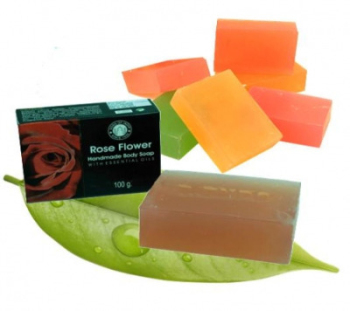 Rose Flower with Essential Oils - Herbal Soap
