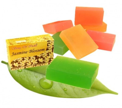 Jasmine Blossom with Essential Oils - Herbal Soap