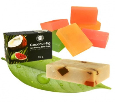 Coconut Fig  with Essential Oils - Herbal Soap