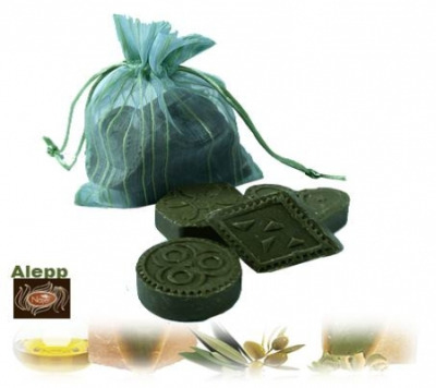 <!--001-->Aleppo Herbal Soap Olive Oil & 12% 4 x 30g - Frankincense