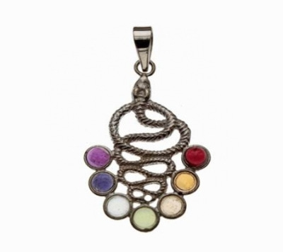 Chakra Silver Snake Pendant (Kundalini)