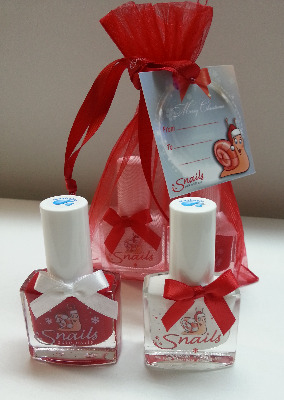 <!-- 021 -->Christmas Collection Special Snails Nails - Red & White