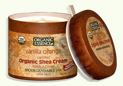 Shea Cream VANILLA ORANGE Organic for hands & body