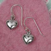 Silver Small  Heart Earrings