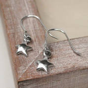 Silver Small  Star Stud Earrings
