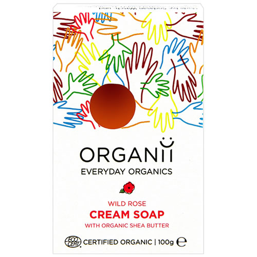 Wild Rose Soap with shea butter - Organic from Organii