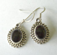 Garnet silver Earrings GAR01