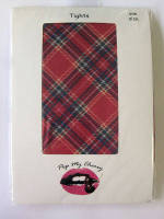 Red Traditional Tartan Tights - Pop My Cherry