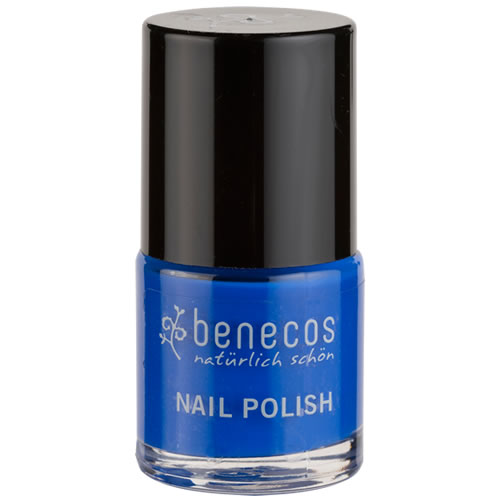 Nail Polish - Benecos Happy Nails - SPARKLES - ( blue)