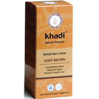 Herbal Hair Colour LIGHT BROWN - 100g - Khadi