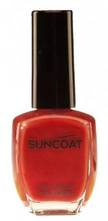 Suncoat water based natural Nail  - POPPY RED