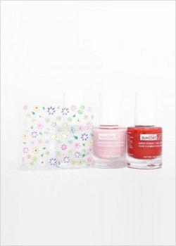 Nail  Kit of 3 x nail polish SuncoatGirl BALLERINA BEAUTY with stickers