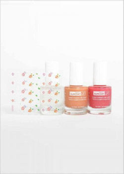 Nail  Kit of 3 x nail polish SuncoatGirl PRETTY ME with stickers