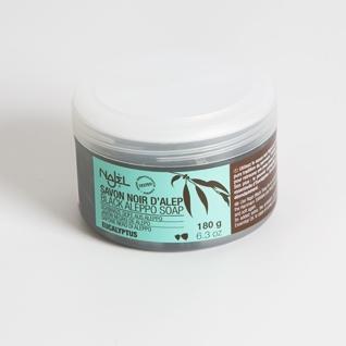 <!--030-->Aleppo black soap with Eucalyptus 180 grams