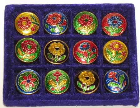 Natural solid perfume cream in cloisonne tin