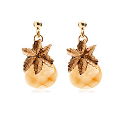 Crystal Pineapple earrings  Gold Plated