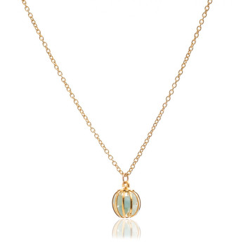 Gemstone Cage necklace with Amazonite (MINT)