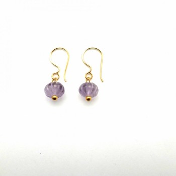 Amethyst carved pumpkin earrings Mirabelle