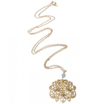 Filigree Gold plated Sacred tree Necklace (699)