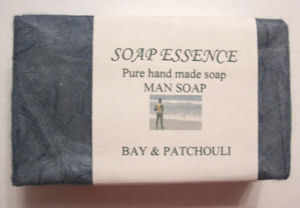 Bay & Patchouli Hand made soap 'Man Soap'