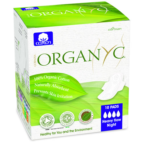 Organic Cotton Sanitary Pads with wings Heavy flow (10)