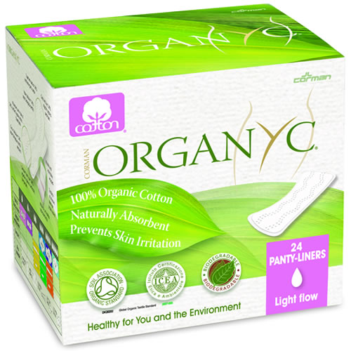 Organic Cotton Pantylinerss light flow- folded 24pk