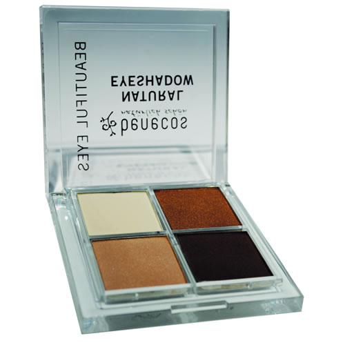 <!--210-->Benecos Quattro Natural Eyeshadow - Coffee and Cream