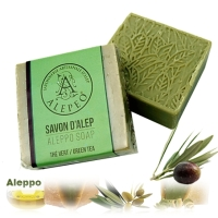 <!--001-->Aleppo Herbal Soap Olive Oil &amp; GREEN TEA 100g