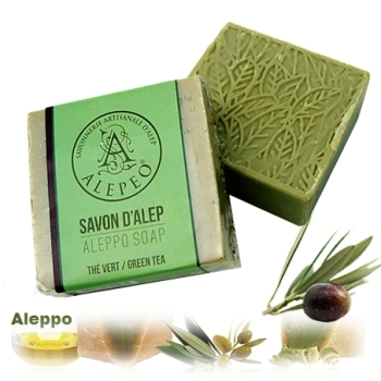 Aleppo Herbal Soap Olive Oil & GREEN TEA 100g
