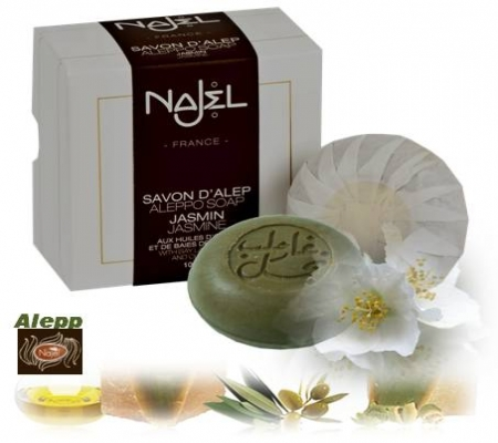<!--032-->Aleppo Jasmine Soap  in gift box 100g - Najel