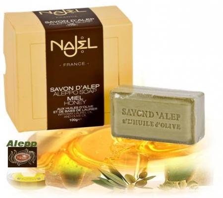 <!--030-->Aleppo Honey Soap in gift box 100g - Najel
