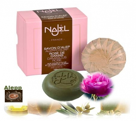 <!--021-->Aleppo Damascus Rose  Soap in gift box 100g
