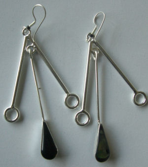 Mexican earrings Silver with Abalone (MEX34)