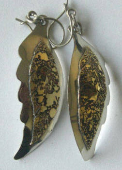 Chilean Brass Earrings with Silver CH04