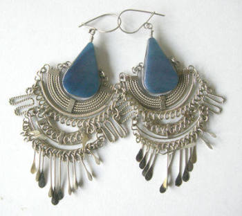 Mexican earrings Silver with Stone - MEX203