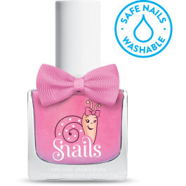 <!-- 015 -->Tooth Fairy - Pretty Pink Snails Washable Polish