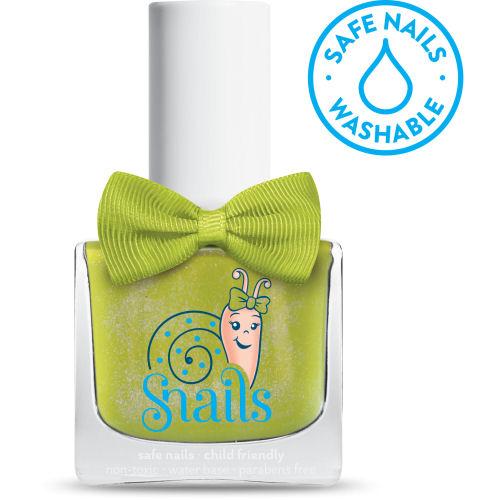 <!-- 012 -->Prince Frog - Shiney GREEN Snails  Nails Washable Polish *NEW C