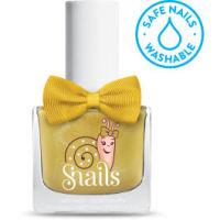 <!-- 010 -->Make a Wish - GOLD Snails  Nails Washable Polish