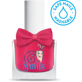 <!-- 008 -->Lollipop - RED Snails  Nails Washable Polish