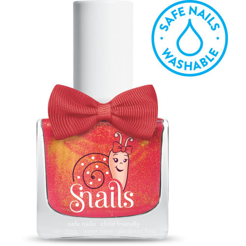 <!-- 008 -->GINGERBREAD  - Sunser Orange  Snails  Nails Washable Polish