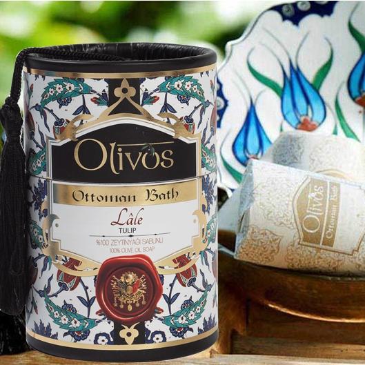 Olivos Ottoman Bath Turkish Soap - Tulip  2 x 100g