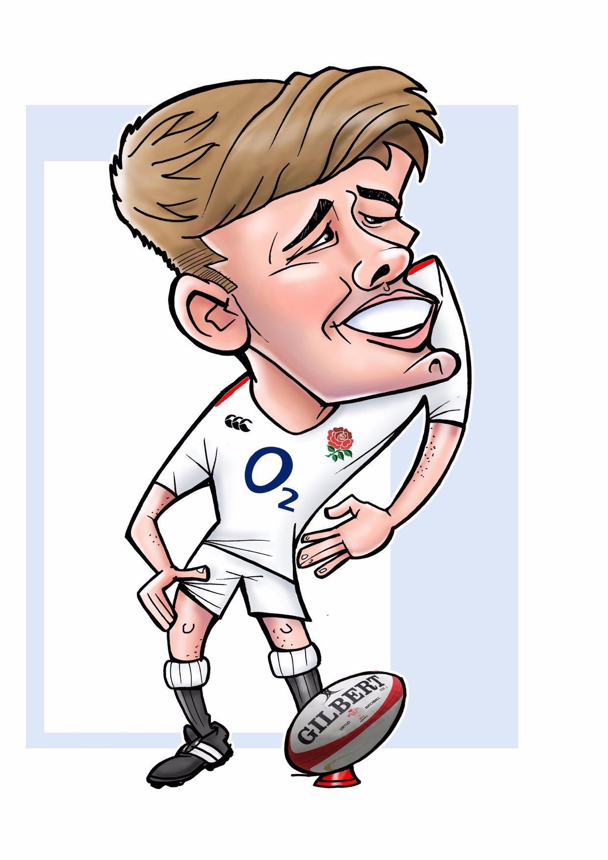 Owen Farrell Caricature