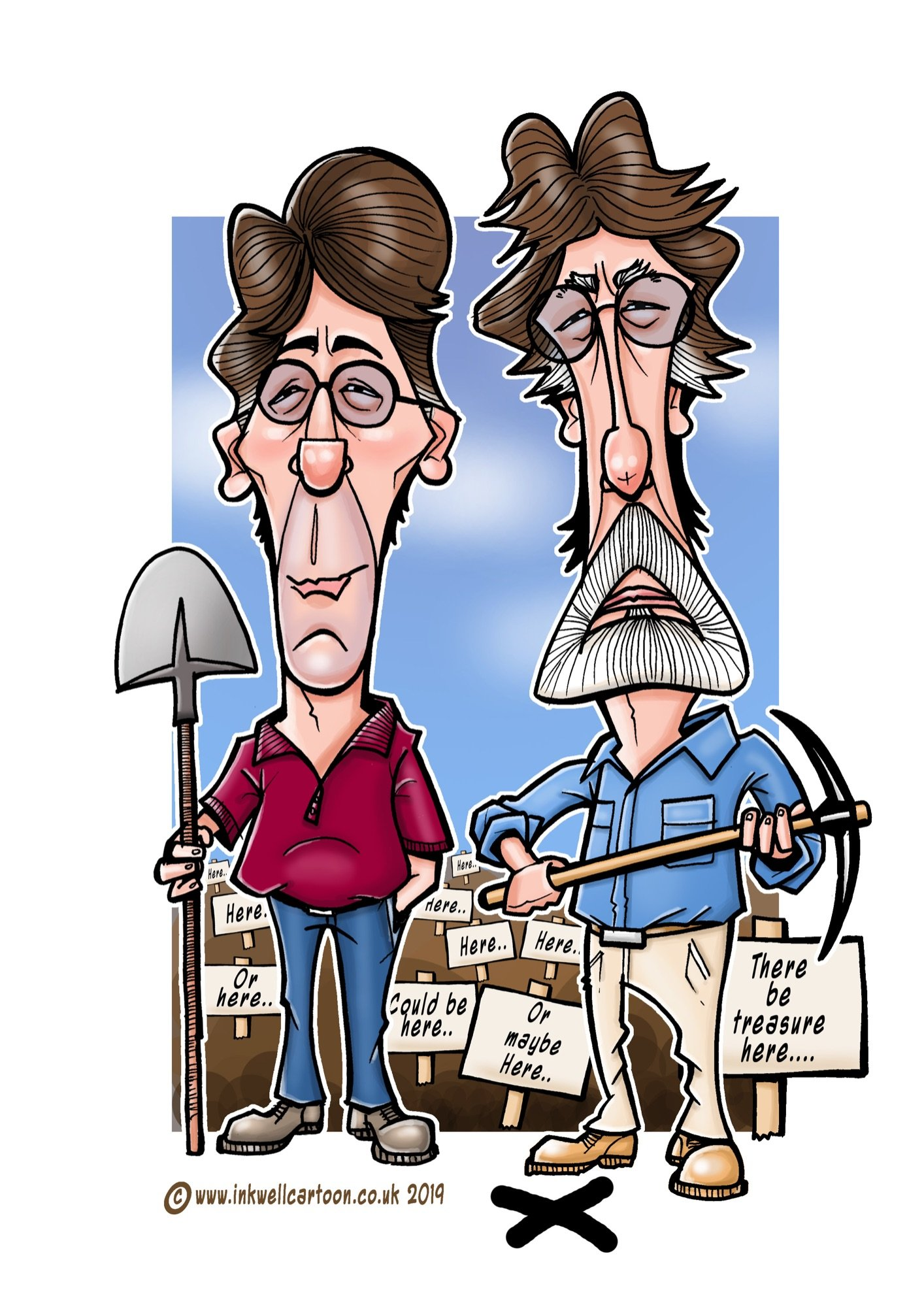 oak island caricature