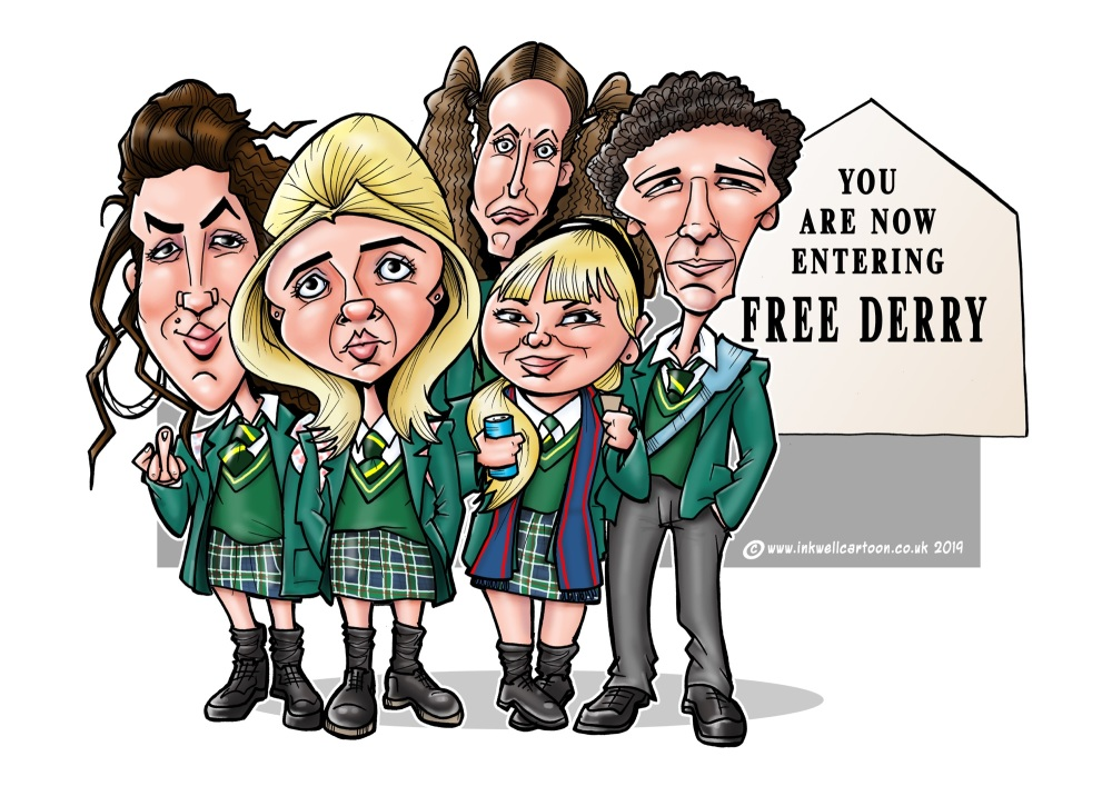derry girls caricature