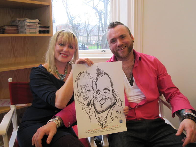 live caricature entertainment quirky wedding 2