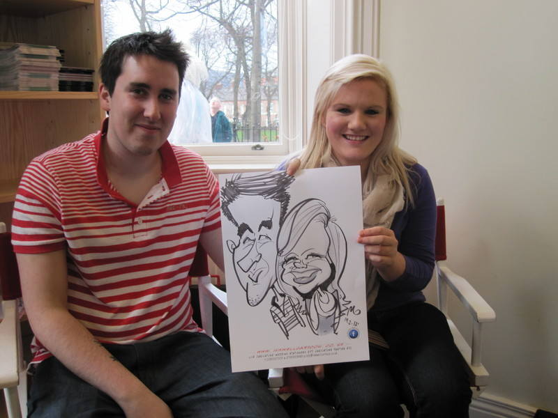 live caricature entertainment quirky wedding 4