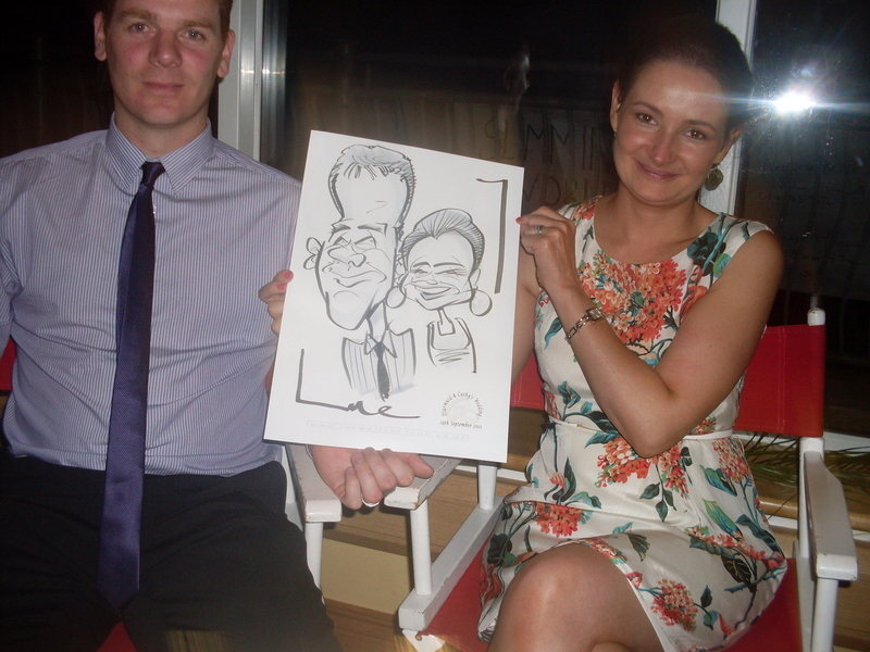 Live caricature Monaghan 1