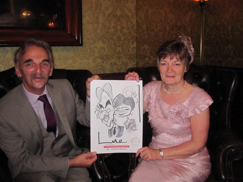 wedding caricature galgorm