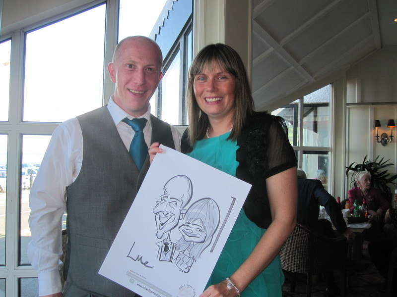 wedding caricature Ballygally